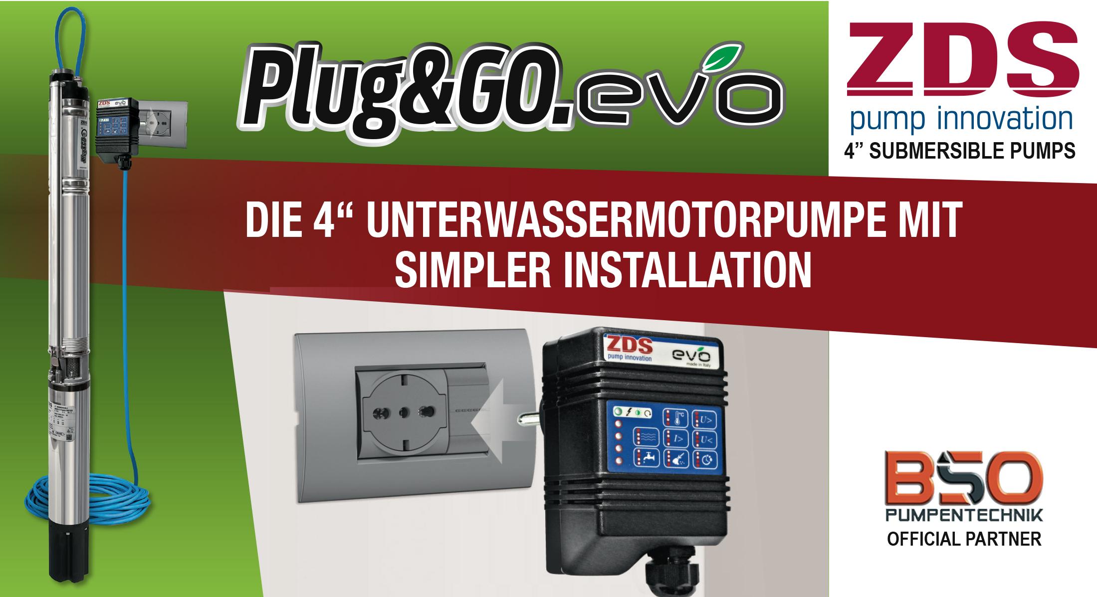 ZDS Plug & Go Tiefbrunnenpumpen mit integrierten Presscontrol Banner