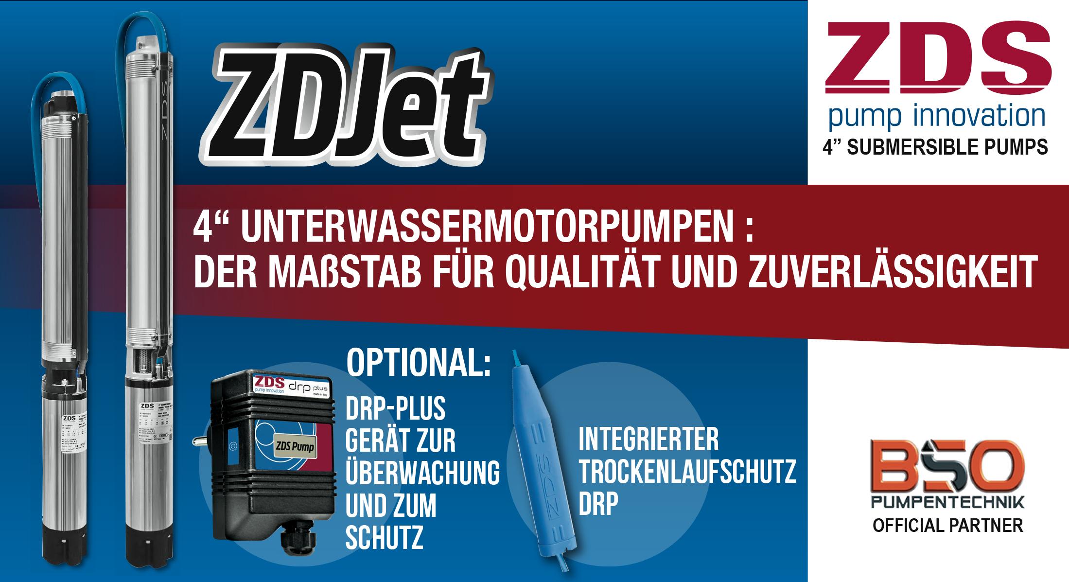 Tiefbrunnenpumpen Serie ZDS X/P H2 Wassergekühlt Long-Live- Banner