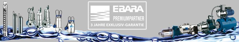 3 Jahre Garantie Ebara Banner