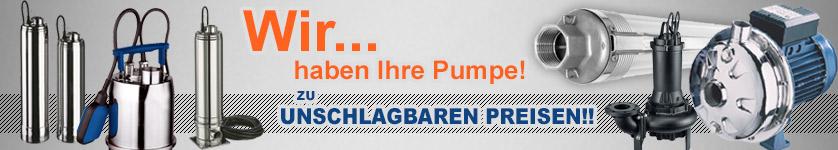 Banner Brunnenpumpen