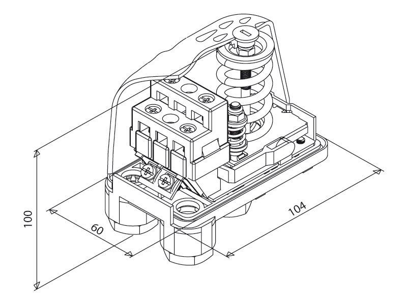 mechanischer druckschalter italtecnica pt 12 3 400v. Black Bedroom Furniture Sets. Home Design Ideas